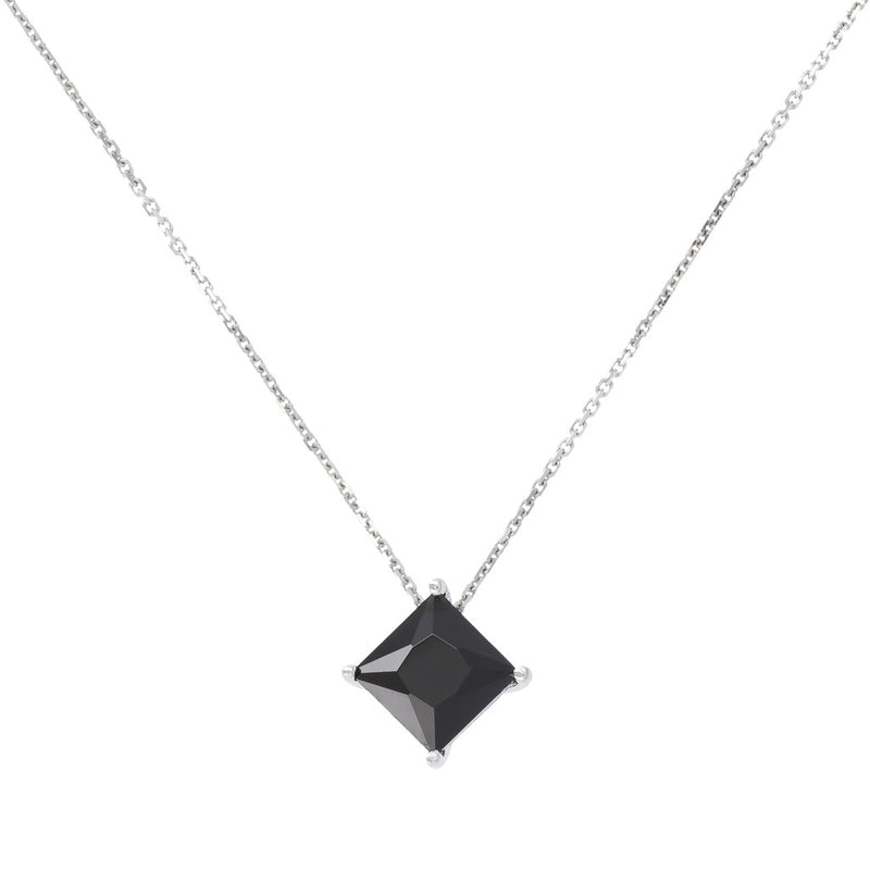 SPICE IT UP GLAMLINE SHINY/DC BLACK SPINEL GEMSTONES NECKLACE - WSBC00206
