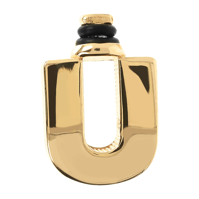 DUO BY BIANCA MONOGRAM - LETTER U - WSDO00006 YELLOW GOLD