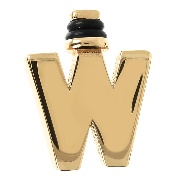 DUO BY BIANCA MONOGRAM - LETTER W - WSDO00006 YELLOW GOLD