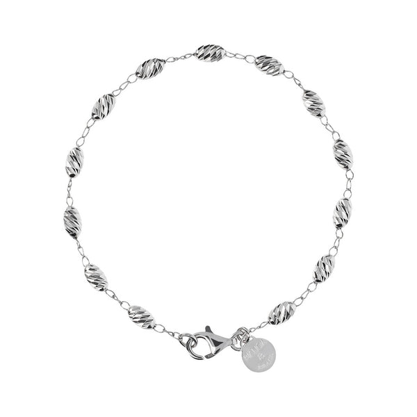 Diamond Oval Pearl Bracelet
