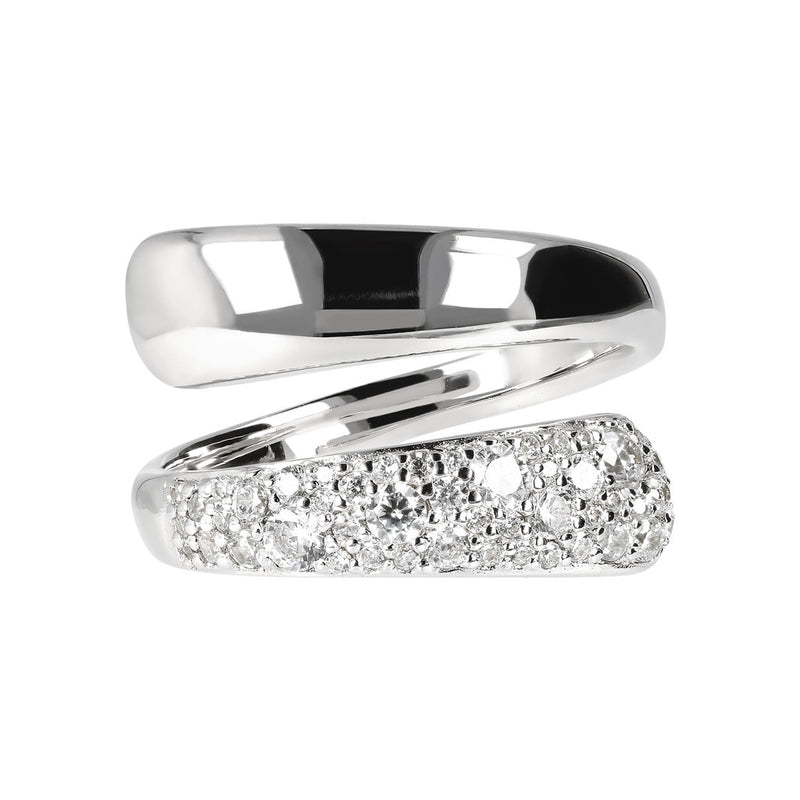 Double Ring Band with CZ setting