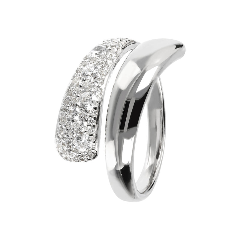 Double Ring Band with CZ
