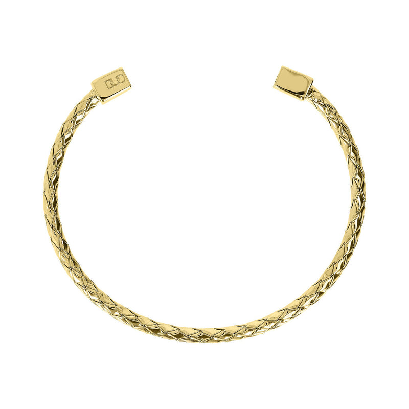 Duo Bangle - Braided Section side