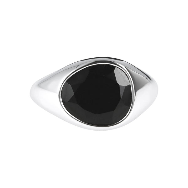 SPICE IT UP GLAMLINE  RING W/ FACETED BLACK SPINEL GEMSTONE - WSBC00215 setting