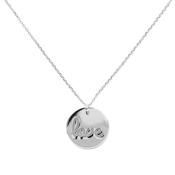 Love Plaque Necklace