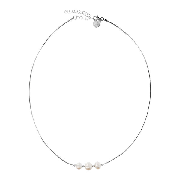 ONCE UPON A TIME CLASSIC CHIC CULTURED PEARL OMEGHINA NECKLACE  - WSBC00231