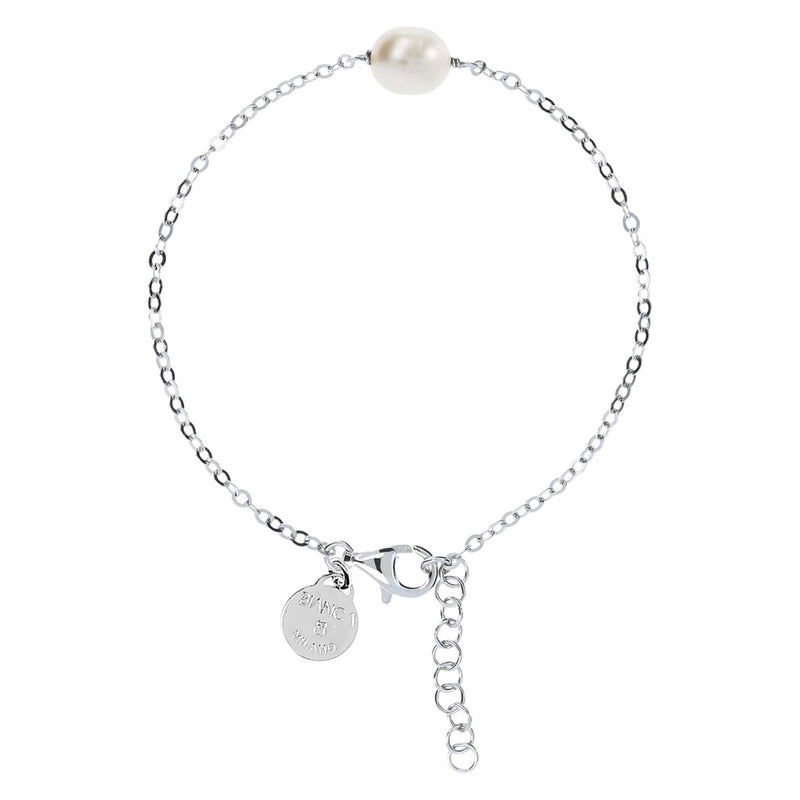 ONCE UPON A TIME CLASSIC CHIC SHINY CULTURED PEARL BRACELET - WSBC00232 WHITE PEARL