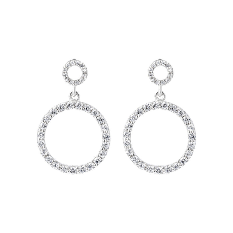 ONCE UPON A TIME WHITE DREAM  CZ GEMSTONE EARRINGS - WSBC00025