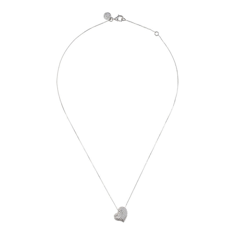 ONCE UPON A TIME WHITE DREAM FORZATINA  NECKLACE WITH SLIDE HEART CZ GEMSTONES - WSBC00043 from above