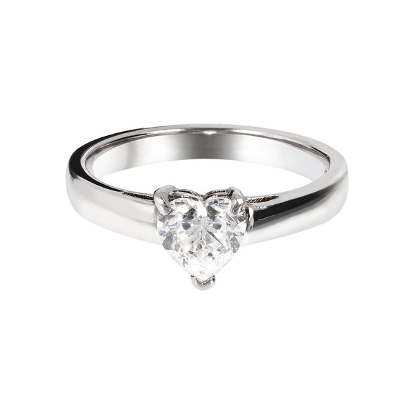ONCE UPON A TIME WHITE DREAM HEART SHAPED CZ RING - WSBC00011 setting
