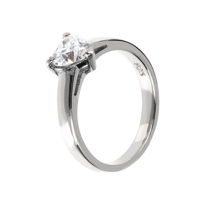 ONCE UPON A TIME WHITE DREAM HEART SHAPED CZ RING - WSBC00011