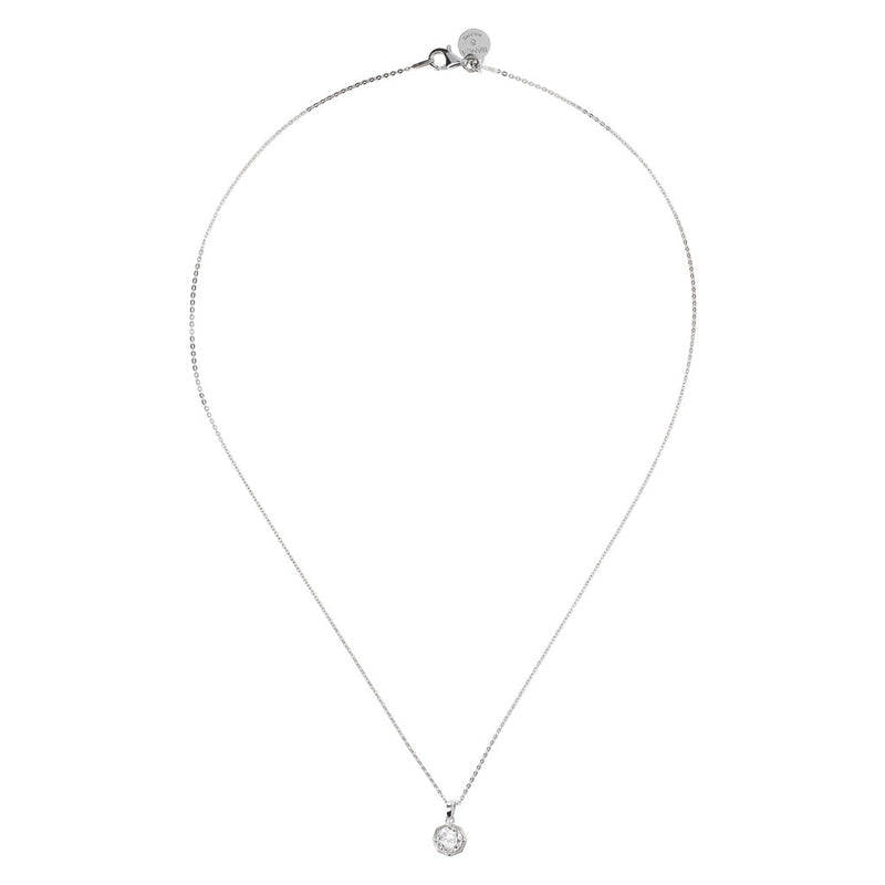 ONCE UPON A TIME WHITE DREAM SHINY CZ GEMSTONE FORZATINA NECKLACE - WSBC00041 from above