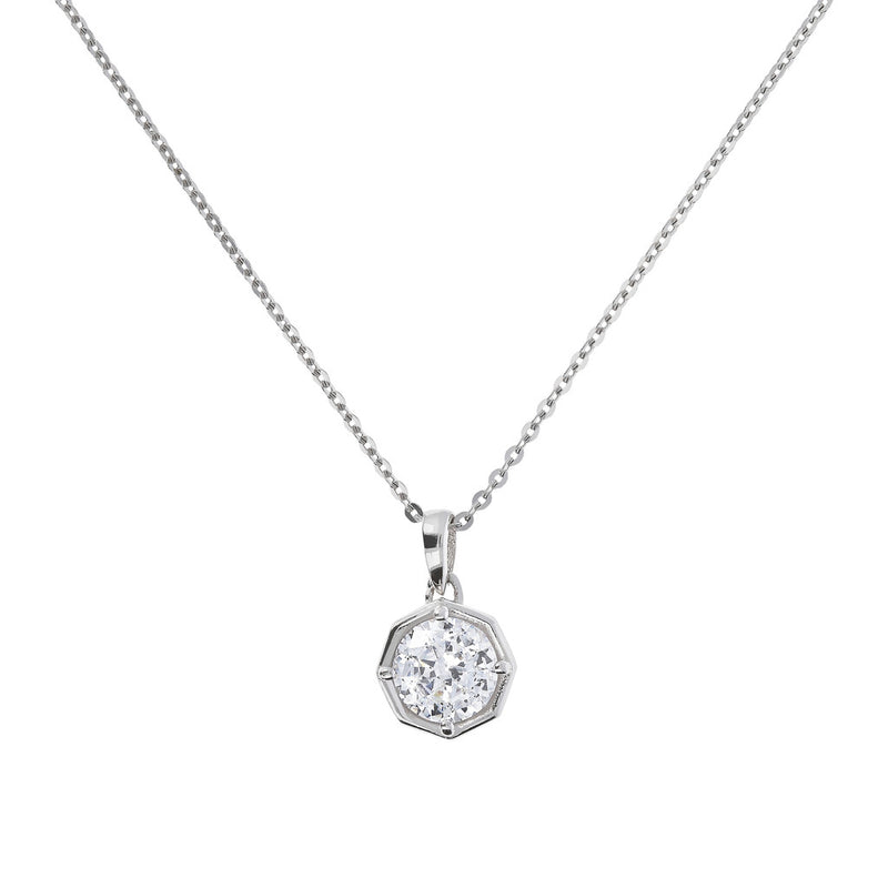 ONCE UPON A TIME WHITE DREAM SHINY CZ GEMSTONE FORZATINA NECKLACE - WSBC00041