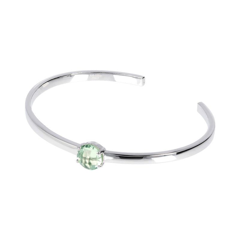 OVER THE RAINBOW PRISMA GEMSTONE CUFF BANGLE - WSBC00200 NANO GREEN AMETHYST