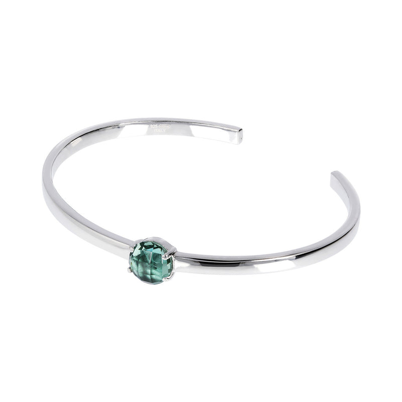 OVER THE RAINBOW PRISMA GEMSTONE CUFF BANGLE - WSBC00200 NANO GREEN QUARTZ