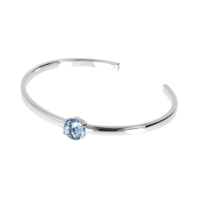 OVER THE RAINBOW PRISMA GEMSTONE CUFF BANGLE - WSBC00200 NANO LIGHT BLUE
