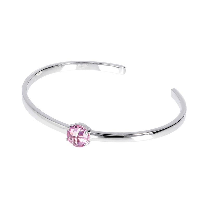 OVER THE RAINBOW PRISMA GEMSTONE CUFF BANGLE - WSBC00200 NANO LIGHT PINK