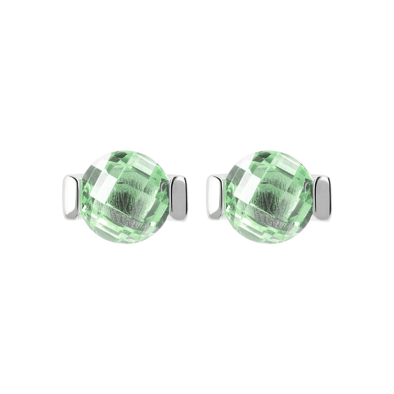 OVER THE RAINBOW PRISMA GEMSTONE EARRING - WSBC00196 NANO GREEN AMETHYST
