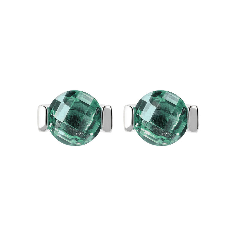 OVER THE RAINBOW PRISMA GEMSTONE EARRING - WSBC00196 NANO GREEN QUARTZ