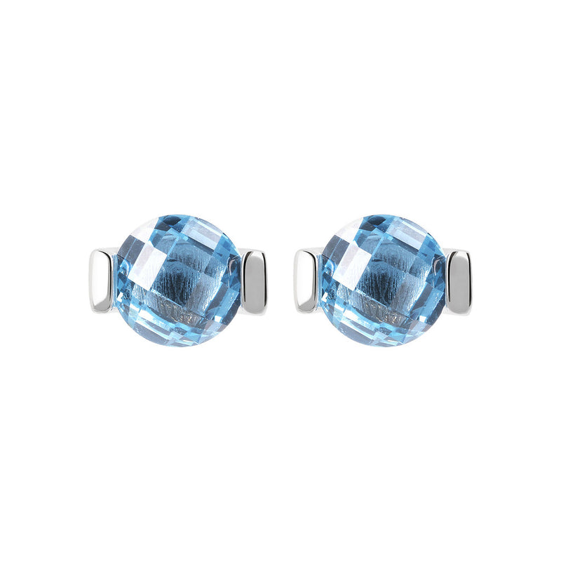 OVER THE RAINBOW PRISMA GEMSTONE EARRING - WSBC00196 NANO LIGHT BLUE