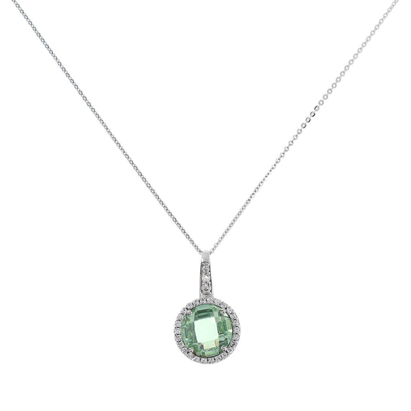 OVER THE RAINBOW PRISMA GEMSTONE PENDANT - WSBC00193 NANO GREEN AMY+WHITE CZ
