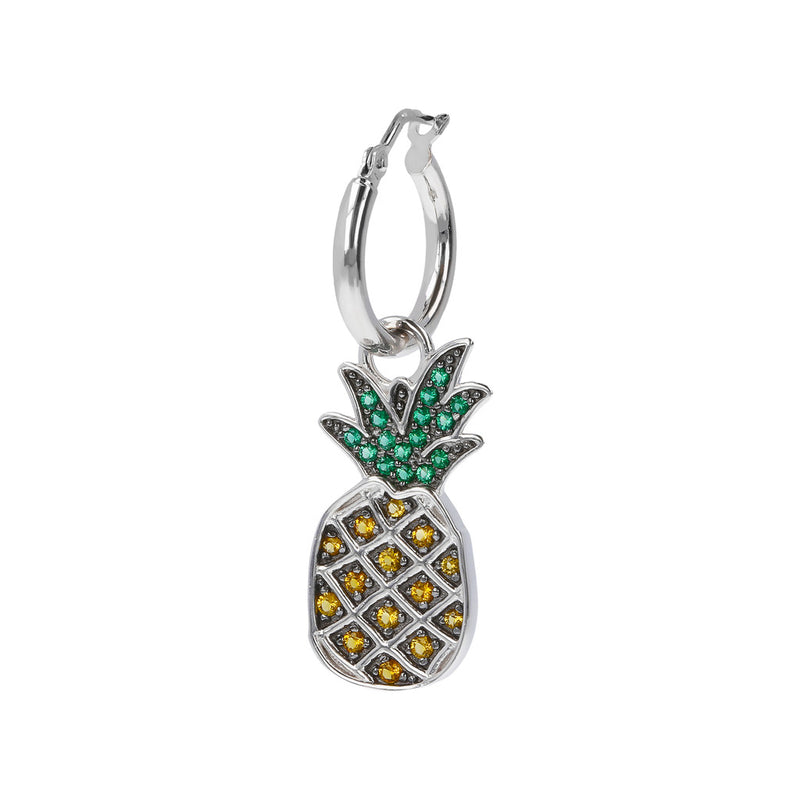 RWA FOR BIANCA MILANO SHINY HOOP EARRINGS WITH STAR FISH CHARM CZ GEMSTONE  - ANANAS - WSBC00261
