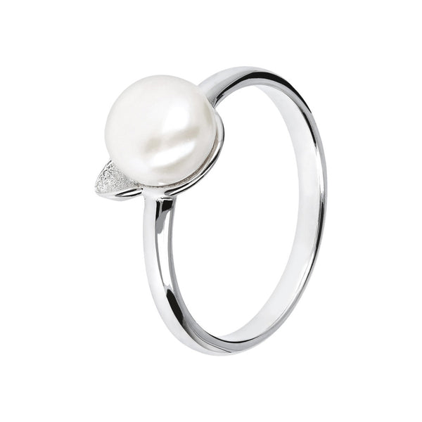 Ring with Cat Ears with a Pearl in the Centre