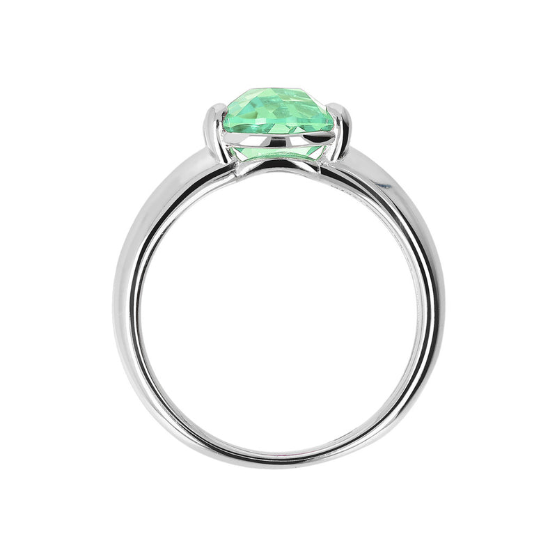 Ring with a Coloured Stone NANO GREEN AMETHYST setting
