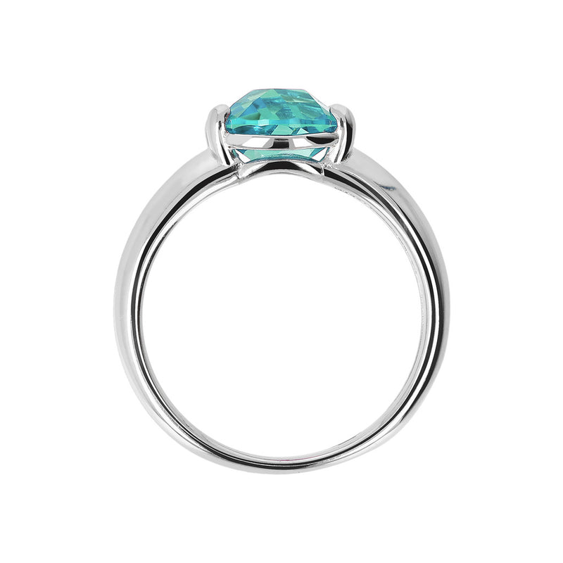 Ring with a Coloured Stone NANO GREEN QUARTZ setting