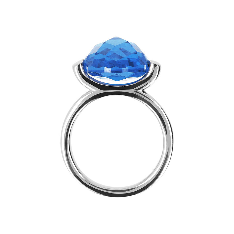 Ring with a Large Oval-Shaped Coloured Stone setting