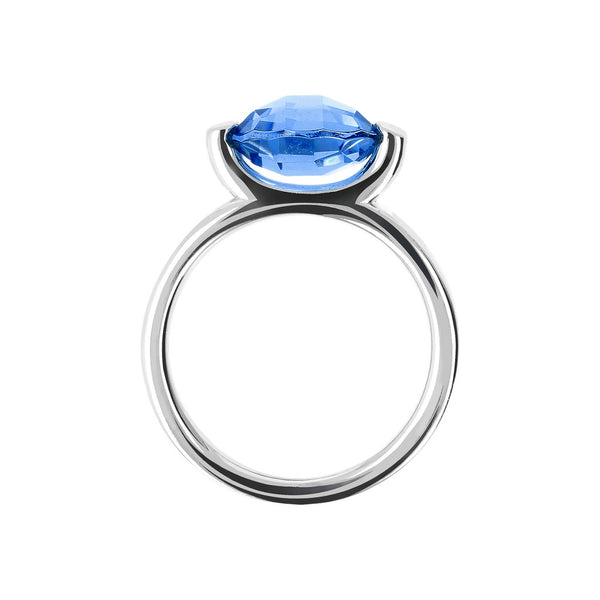 Ring with a Small Oval-Shaped Coloured Stone setting
