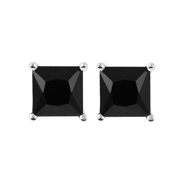SPICE IT UP GLAMLINE BIANCA MILANO SHINY SQUARE BLACK SPINEL EARRING - WSBC00211