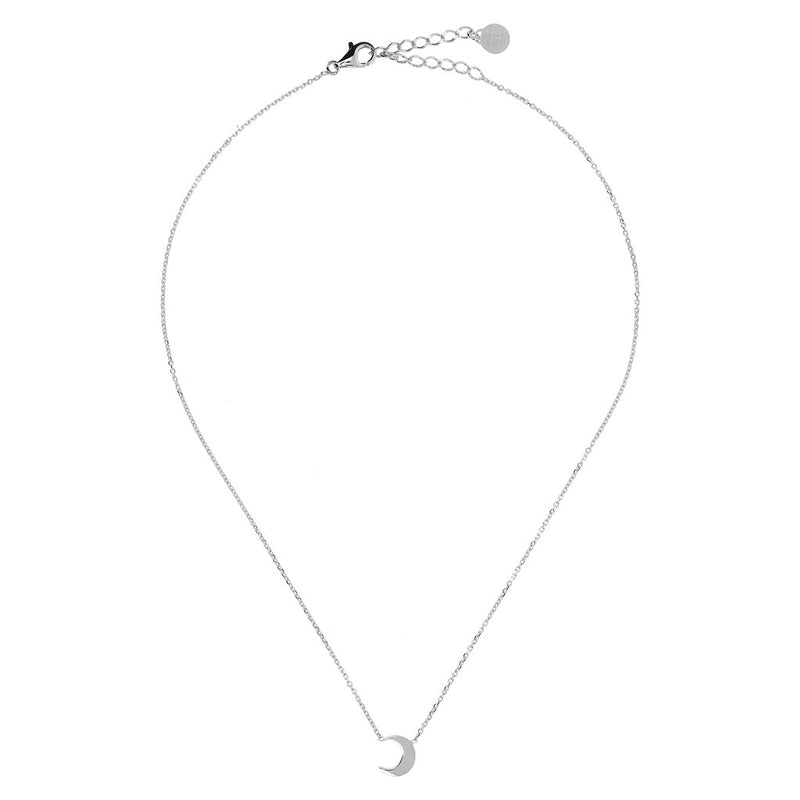 SPICE IT UP SPECIAL SHINY HEART FORZATINA NECKLACE - MOON - WSBC00189 from above