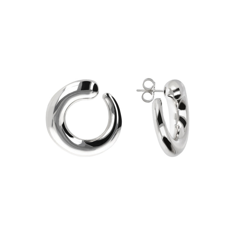 SUCH A PERFECT DAY MYESSENTIALS BIANCA MILANO  ELECTROFORMED CONTRARIE HOOP EARRINGS - WSBC00077 front and side