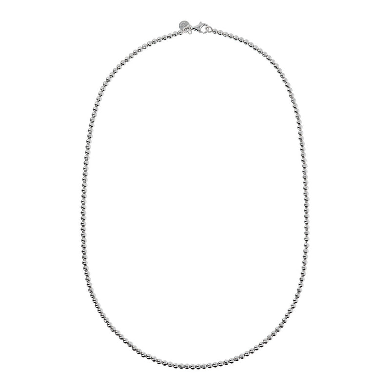"SUCH A PERFECT DAY MYESSENTIALS BIANCA MILANO SHINY BEADED 4 MM NECKLACE-18"" - WSBC00124 from above"