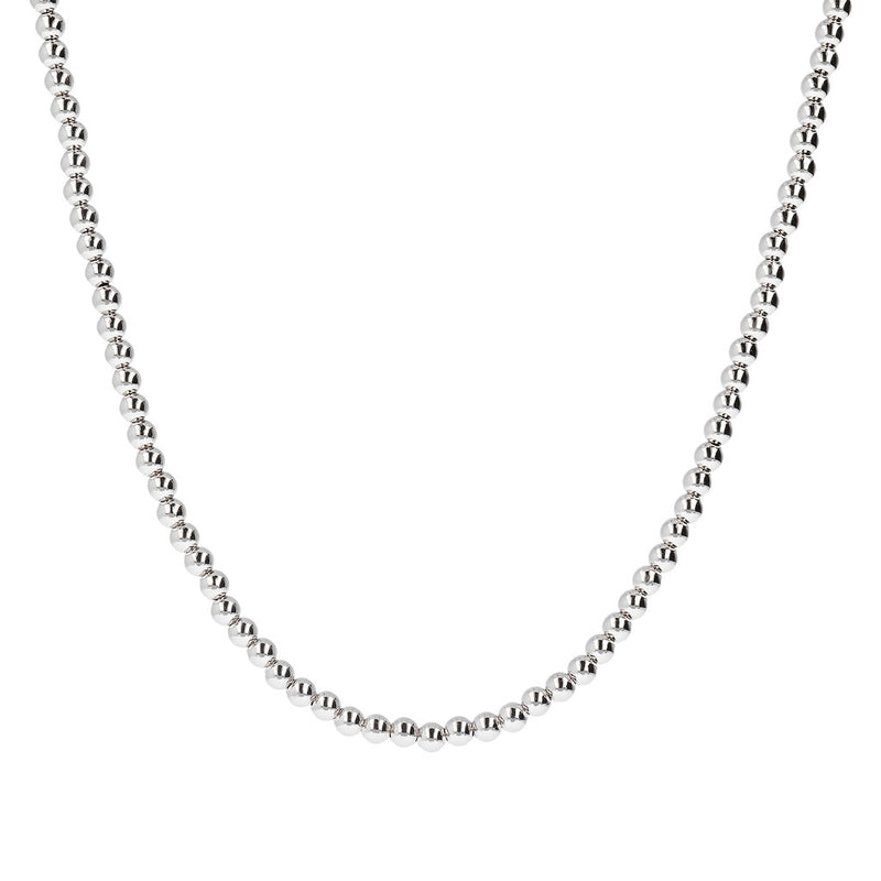 "SUCH A PERFECT DAY MYESSENTIALS BIANCA MILANO SHINY BEADED 4 MM NECKLACE-18"" - WSBC00124"