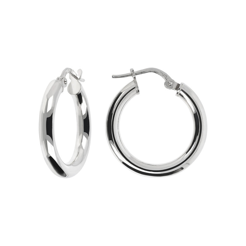 SUCH A PERFECT DAY MYESSENTIALS BIANCA MILANO  SHINY HOOP EARRING - WSBC00065 front and side