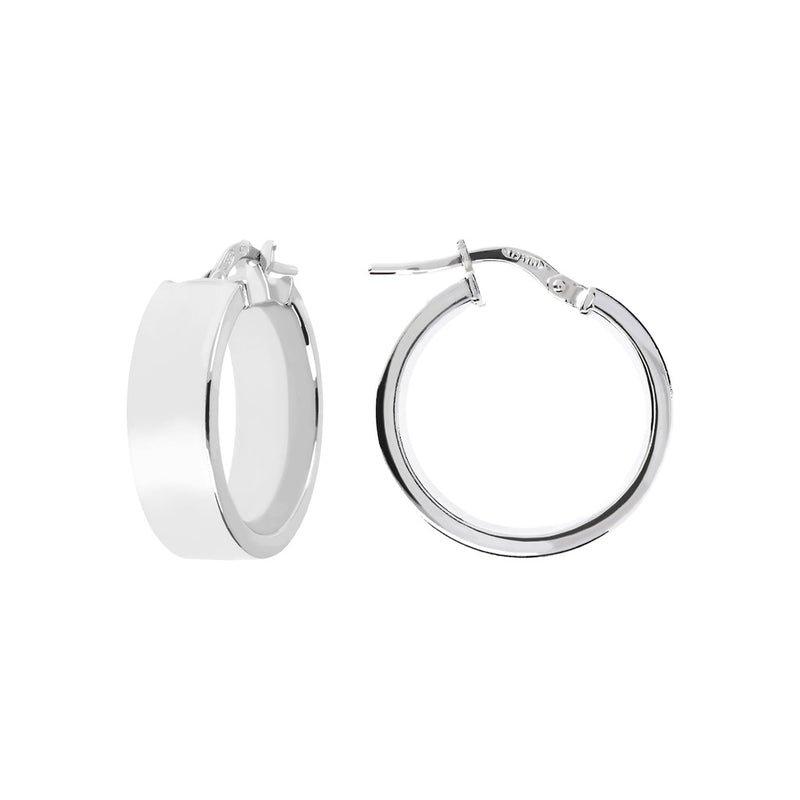 SUCH A PERFECT DAY MYESSENTIALS BIANCA MILANO SHINY HOOP EARRING - WSBC00088 front and side
