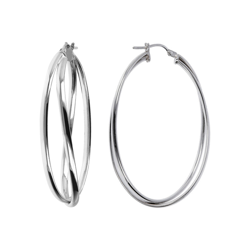 SUCH A PERFECT DAY MYESSENTIALS BIANCA MILANO SHINY HOOP EARRINGS - WSBC00058 front and side