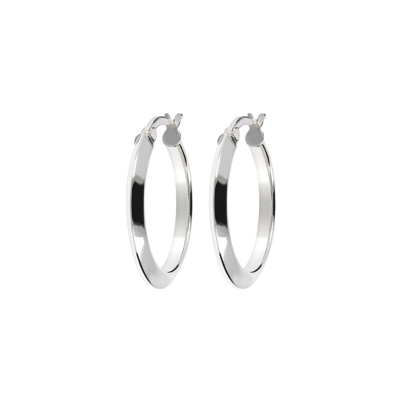 SUCH A PERFECT DAY MYESSENTIALS BIANCA MILANO SHINY ROUND HOOP EARRINGS - WSBC00061