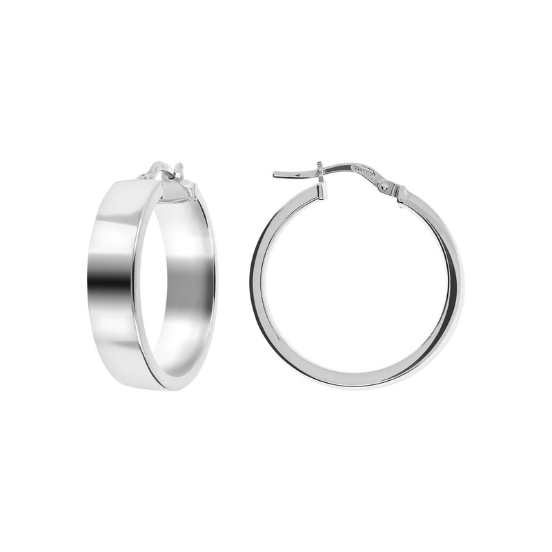 SUCH A PERFECT DAY MYESSENTIALS BIANCA MILANO SHINY ROUND HOOP EARRINGS - WSBC00063 front and side