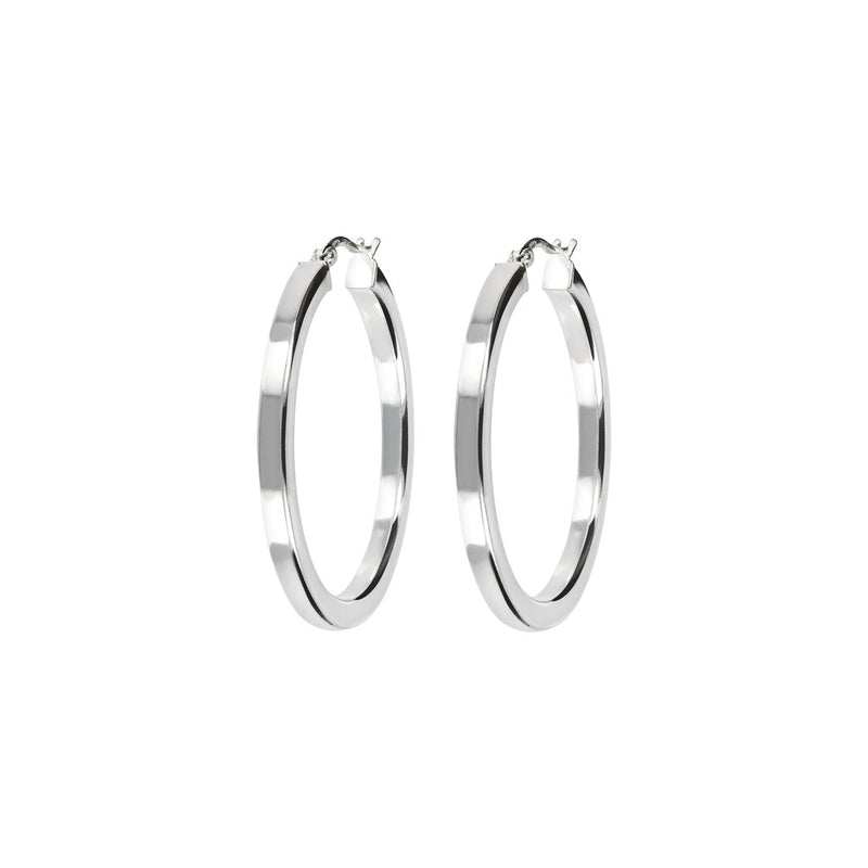 "SUCH A PERFECT DAY MYESSENTIALS BIANCA MILANO SHINY TUBE HOOP EARRING - 1,5"" - WSBC00087"