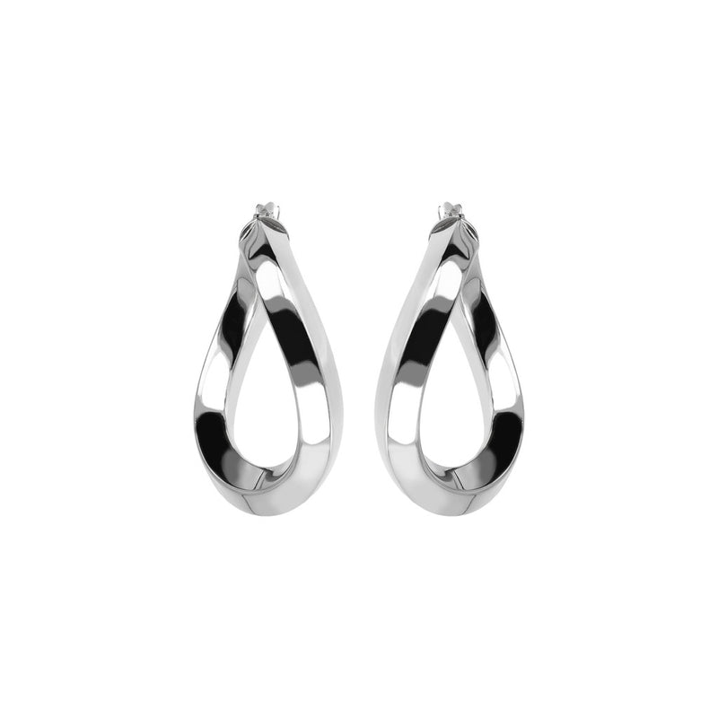SUCH A PERFECT DAY MYESSENTIALS BIANCA MILANO SHINY WAVY HOOP EARRING-M - WSBC00085