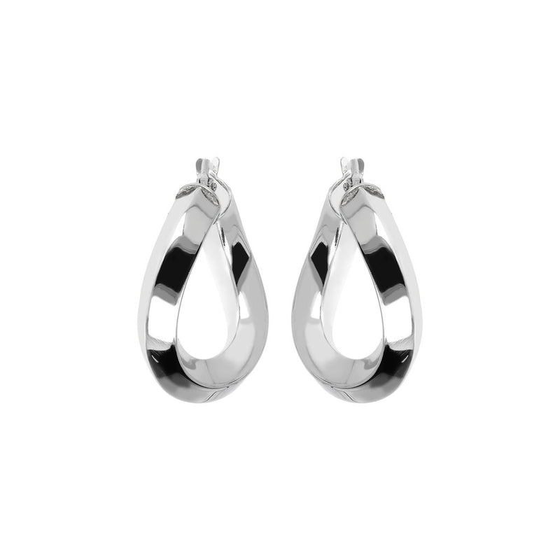 SUCH A PERFECT DAY MYESSENTIALS BIANCA MILANO SHINY WAVY HOOP EARRING-S - WSBC00086
