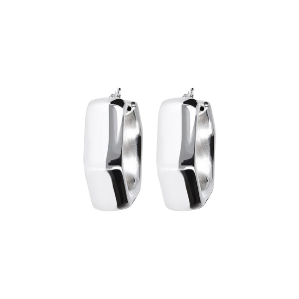 SUCH A PERFECT DAY MYESSENTIALS BIANCA MILANO POLISHED ELECTROFORMED HOOP EARRINGS - WSBC00078