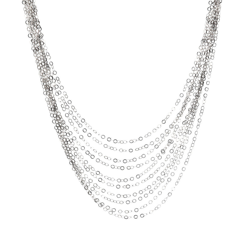 SUCH A PERFECT DAY MYESSENTIALS DIAMOND CUT FORZATINA  10 GRADUATED MULTISTRANDS NECKLACE - WSBC00225 from above