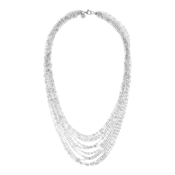 SUCH A PERFECT DAY MYESSENTIALS DIAMOND CUT FORZATINA  10 GRADUATED MULTISTRANDS NECKLACE - WSBC00225