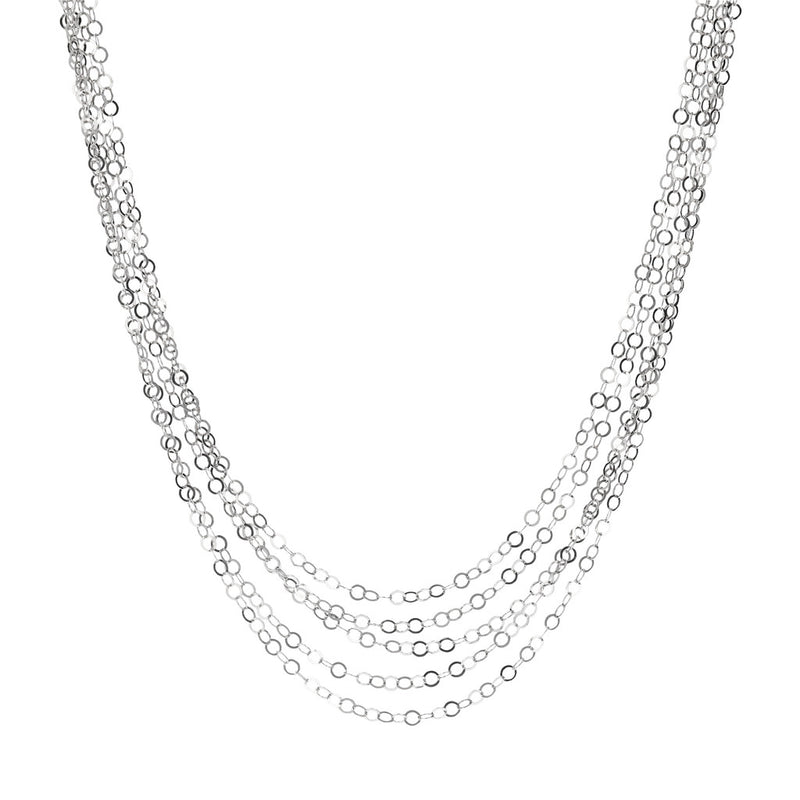 SUCH A PERFECT DAY MYESSENTIALS DIAMOND CUT FORZATINA 5 GRADUATED MULTISTRANDS NECKLACE - WSBC00224 from above