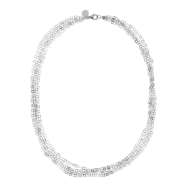 SUCH A PERFECT DAY MYESSENTIALS DIAMOND CUT FORZATINA 5 GRADUATED MULTISTRANDS NECKLACE - WSBC00224