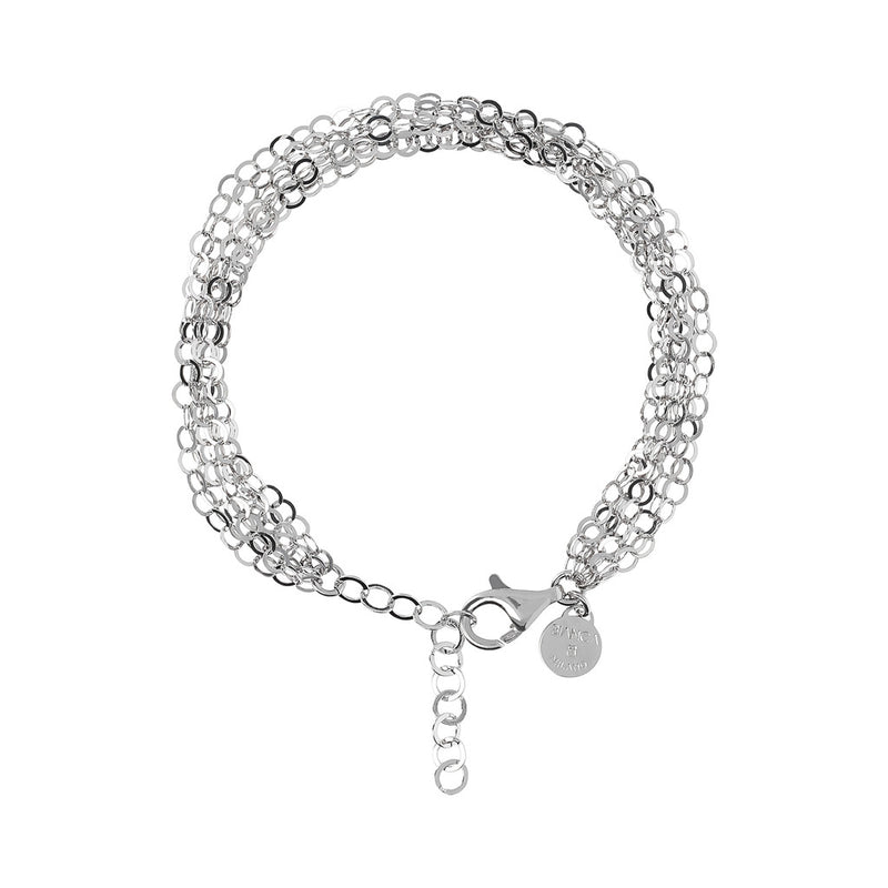 SUCH A PERFECT DAY MYESSENTIALS DIAMOND CUT FORZATINA 6 MULTISTRANDS  LINEAR BRACELET - WSBC00222